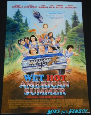 Amy Poehler signed autograph wet hot america summer rare promo mini movie poster