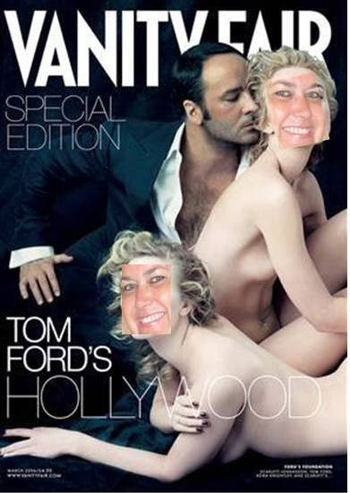 tom ford hot sexy vanity fair magazine cover rare promo tom ford shirtless naked rare promo model