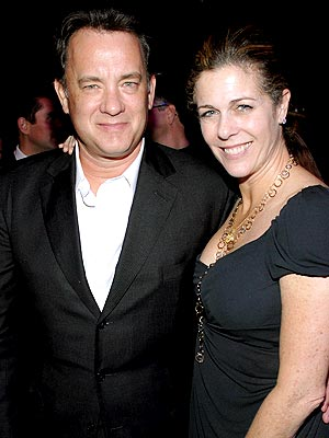 tom hanks and rita wilson dressed up at a charity event at the geffen theater