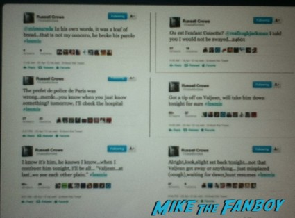 russell crowe's tweets in character at javert from les miserables rare promo
