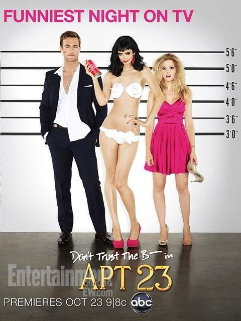 Don't Trust The B- In Apt 23 rare promo season 2 poster whipped cream bikini krysten ritter hot sexy naked photo damn fine james van der beek