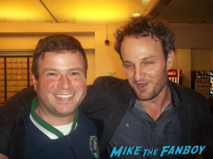 Jason Clarke signing autographs for fans fan photo rare promo zero dark thirty cast signed autograph q and a