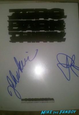 jessica chastain signed autograph jason clarke signed autograph hot sexy photo shoot rare promo zero dark thirty actress rare