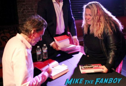 john taylor book signing in the pleasure groove fan photo with pinky from mike the fanboy rare promo hot sexy duran duran star