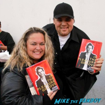 pinky from mike the fanboy and duggan at the john taylor book signing duran duran star rare promo