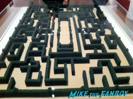 The shining model hedge maze from the LACMA Stanely Kubrick exhibit prop costumes rare promo script posters