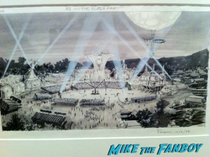 original AI concept art from LACMA Stanely Kubrick exhibit prop costumes rare promo script posters