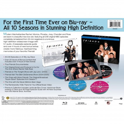 Friends the complete series blu ray prize pack key art cover lenticular cover rare promo hot promo