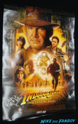 indiana jones and the crystal skull one sheet movie poster signed autograph cae blanchett kathleen kennedy joan allen