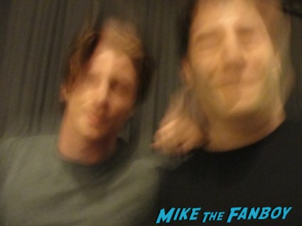 Garrett Hedlund hot sexy on the road star photo flop with mike the fanboy at a q and a for on the road rare promo