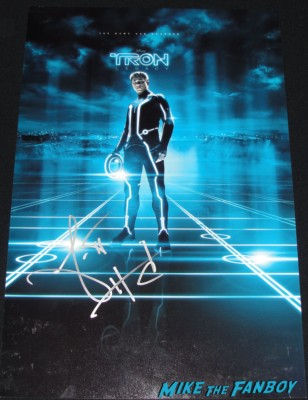 garrett hedlund signed autograph tron legacy rare promo mini poster one sheet hot sexy rare