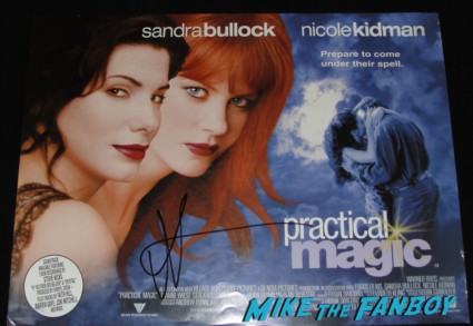 Nicole Kidman signed autograph practical magic uk quad promo mini movie poster hand signed nicole kidman signing autographs rre