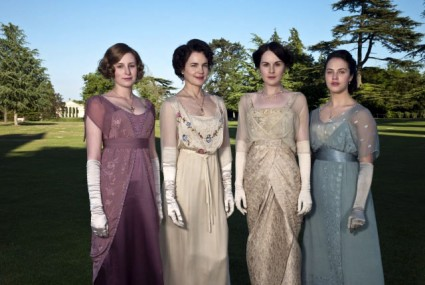 Downton Abbey cast photo elizabeth mcgovern rare prom hot sexy pbs series women on the manor cast shot
