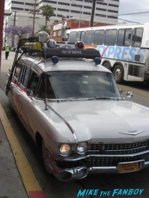 Ecto 1 replica car waiting for dan aykroyd to arrive at the crystal head vodka signing rare promo