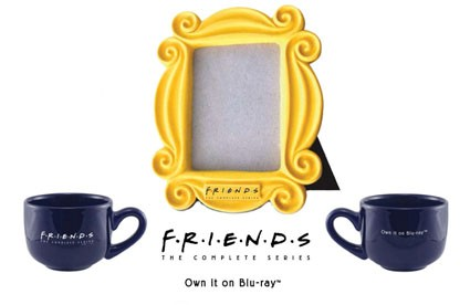 Friends prize pack oversized mug and monica's door frame rare promo blu ray pack show key art