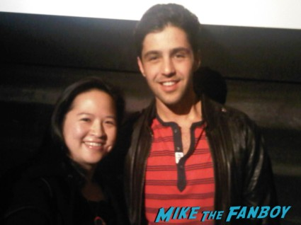 josh peck fan photo with erica from mike the fanboy Josh peck q and a in chicago at a screening of red dawn rare ain't it cool news chicago movie review press photo