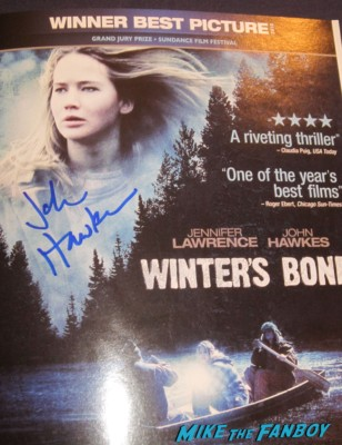 john hawkes signed autograph winter's bone signed dvd cover movie poster rare promo