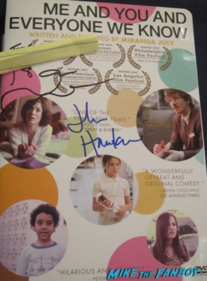john hawkes signed autograph Me And You rare dvd cover promo hot sexy signature rare promo