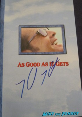 helen hunt signed autograph as good as it gets rare promo dvd cover the sessions q and a mad about you