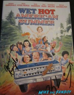 ken marino michael Showalter david wain Janeane Garofalo  signed autograph signature wet hot american summer dvd cover movie poster promo rare