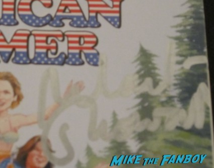 michael Showalter signed autograph signature wet hot american summer dvd cover movie poster promo rare