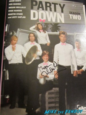 megan mullaly signed autograph party down dvd cover rare promo rob thomas series cater waters