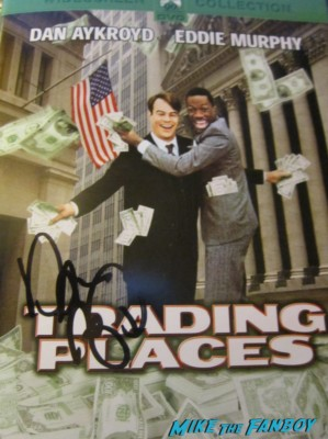 Dan Aykroyd signed autograph trading places dvd cover crystal head vodka bottle signing autographs for fans at his crystal head vodka autograph signing rare promo hot