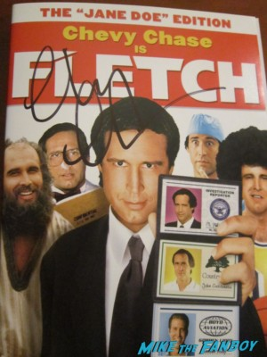 chevy chase signed autograph fletch dvd cover rare promo fletch lives dvd cover insert hot community paleyfest