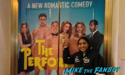 The performers on broadway with alicia silversone henry winkler cheyenne jackson and more naked dude poster