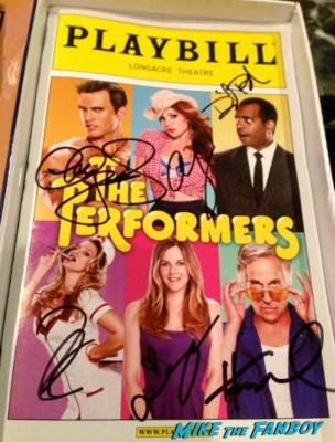 the performers cast signed autograph playbill rare The performers on broadway with alicia silversone henry winkler cheyenne jackson and more naked dude poster