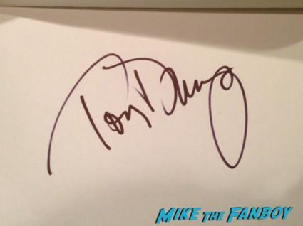 Tony Danza signed autograph index card who's the boss star rare promo sexy photo