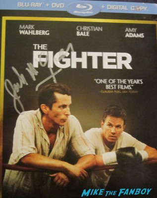 Jack McGee Melissa Leo signed autograph the fighter dvd cover movie poster promo hot rare marky mark wahlberg christian bale