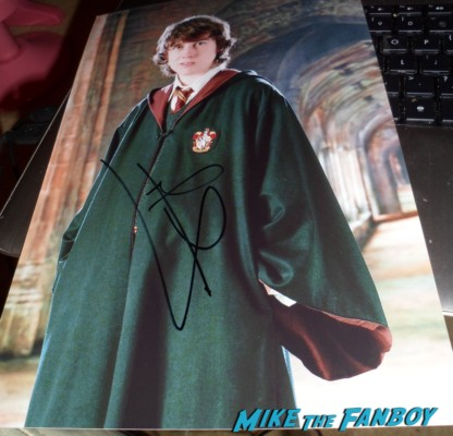 matthew lewis signed autograph harry potter rare promo photo neville longbottom rare promo signing autographs