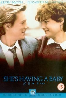 She's having a baby movie poster one sheet hot sexy john hughes film kevin bacon elizabeth mcgovern rare