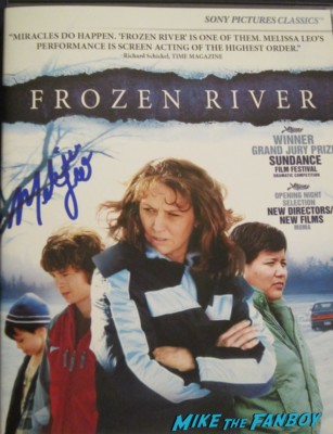 Melissa Leo signed autograph frozen river dvd cover rare promo signing autographs for fans rare dance treme the fighter