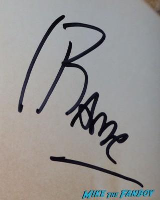 javier bardem signed autograph signature signing autographs for fans at Javier Bardem walk of fame star on hollywood blvd rare promo vicky christina barcelona