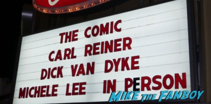 The comic q and a with dick van dyke carl reiner michele lee marquee beverly theater los angeles ca