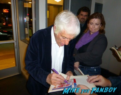 Dick Van Dyke signing autographs for fans at the comic q and a The Comic q and a with dick van dyke carl reiner michele lee at the beverly cinema in los angeles