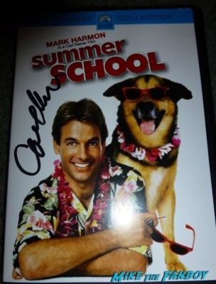 Carl Reiner signed autograph summer school dvd cover rare promo hot sexy mark harmon
