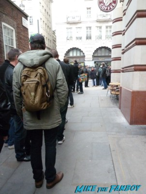 The crowd of people waiting for Arnold Schwarzenegger's book signing at waterstons in london the uk rare promo book signing