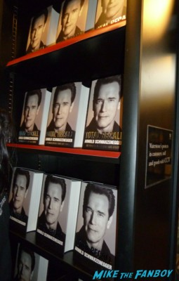 Arnold Schwarzenegger's book signing at waterstons in london the uk rare promo book signing
