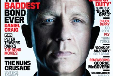 Daniel Craig hot sexy rolling stone magazine cover december 2012 james bond 007 skyfall rare promo