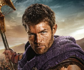 Spartacus War of the Damned promo poster key art liam mcintyre manu bennett shirtless sexy season 3 promo poster hot sexy