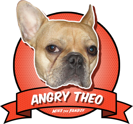 The Angry Theo award adorable cute french bulldog brown rare promo award badge promo