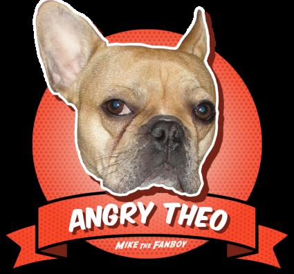 The Angry Theo award adorable cute french bulldog brown rare promo award badge promo