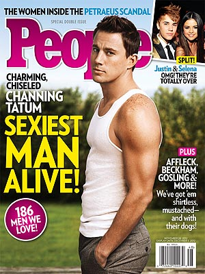 channing-tatum people magazine's sexiest man alive cover rare promo hot sexy muscle abs flex rare the vow magic mike