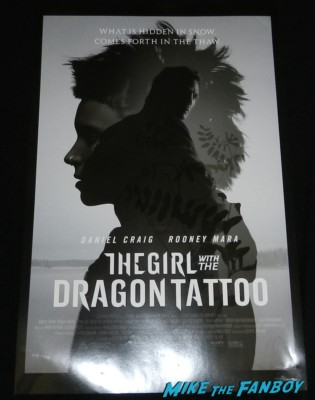 daniel craig signed autograph the girl with the dragon tattoo signature skyfall mini poster daniel craig signing autographs for fans daniel craig signing autographs for fans arriving to the jimmy kimmel live television show hot sexy james bond 007 skyfall star rare promo