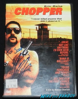 eric bana signed autograph chopper dvd cover rare shirtless hot sexy eric bana signing autographs for fans hot sexy chopper star star trek nero signed autograph rare promo meets fans