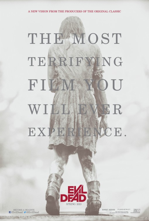 evil dead rare promo teaser movie poster one sheet 2013 rare ash the most terrifying film you will ever experience