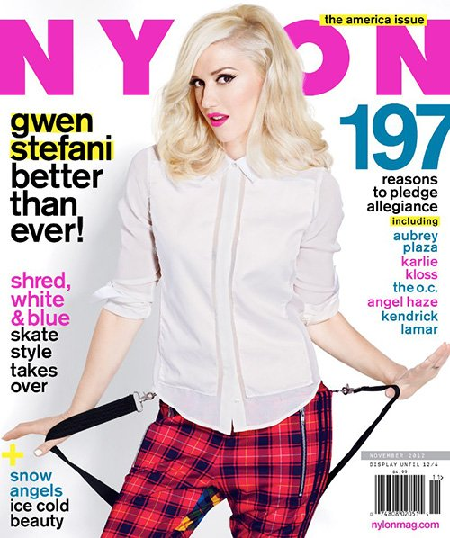 sexy gwen stefani covers the november 2012 issue of Nylon magazine hot sexy photo shoot no doubt push and shove